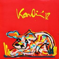 2012 koe rood Jacob Kanbier. In 1985 begon hij zijn opleiding aan de kunstacademie in Amsterdam. Jacob Kanbier liet zich inspireren door vooral Willem de Kooning en Jean-Michel Basquiat.
