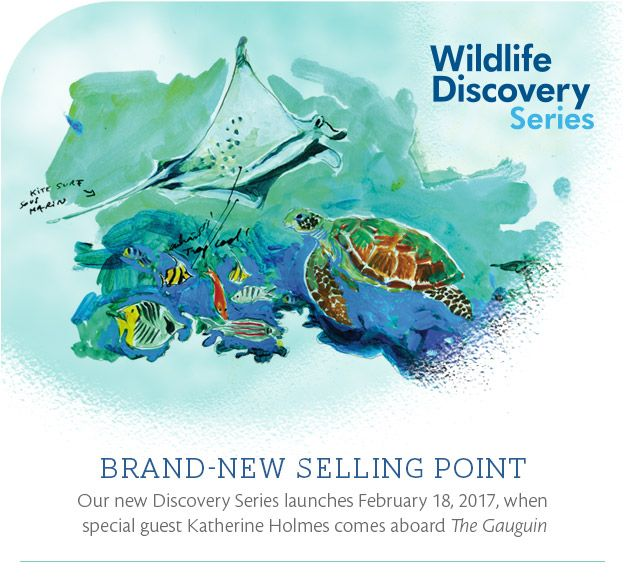 Paul Gauguin Cruises is proud to partner with the Wildlife Conservation Society (WCS) on the Wildlife Discovery Series, an exciting new program where guests of the m/s Paul Gauguin have the opportunity to learn about marine wildlife and habitats from some of the world's most fascinating scientists, oceanographers, and conservationists.