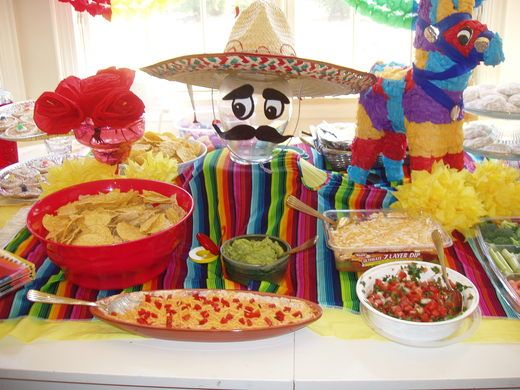 Cinco de Mayo ...decorate a vase with a mustache and sombrero for centerpiece