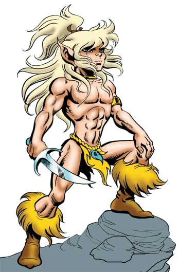 Cutter, the main character in Pini's Elfquest series. Page of Swords