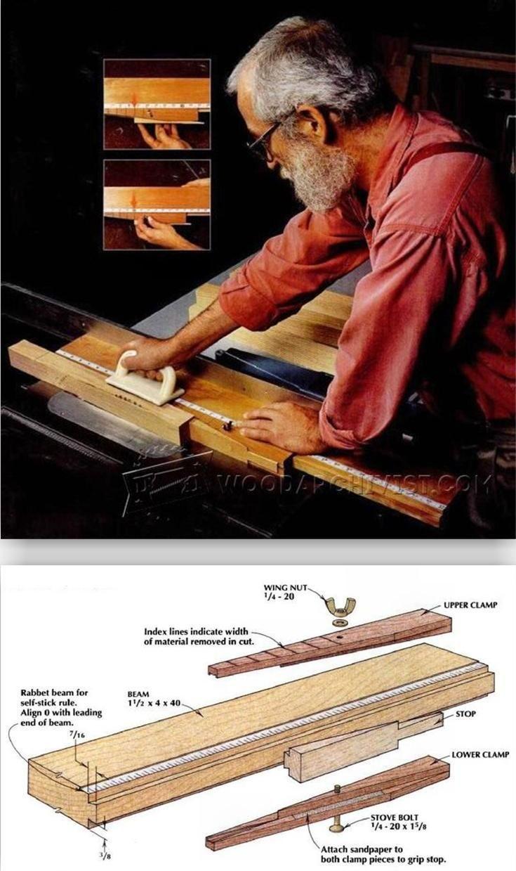 Table Saw Taper Jig Plans - Furniture Legs Construction Techniques   WoodArchivist.com