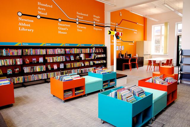 Passmore Edwards Centre children's library by Devon Libraries, via Flickr