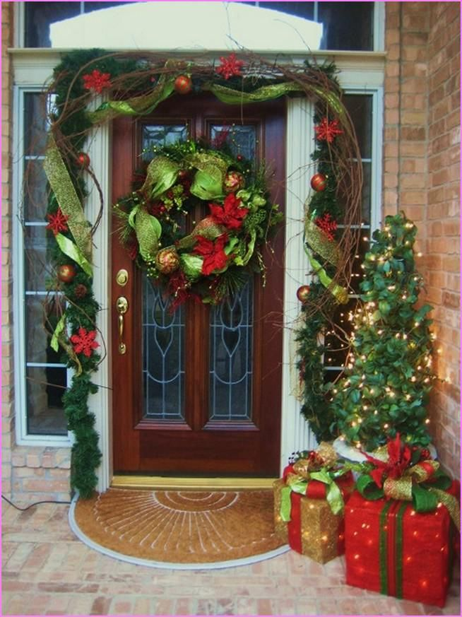 Decorating Decorative Glass Front Door Decorating The Front Door For  Christmas Preschool Christmas Decorations 654x873 Modern