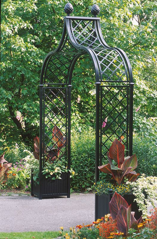Victorian Rose Arch Brighton - www.classic-garden-elements.co.uk - Garden-Obelisks, Rose Arches, Rose Arbours, Trellises and Planters