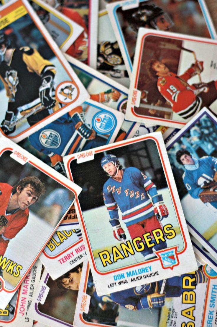 Carte d'hockey 1980 lots de 55, Carte hockey vintage, Carte sport, Cadeau de sport, O-Pee Chee, Cadeau homme, Blackhawks de Chicago de la boutique PastelEtPixel sur Etsy