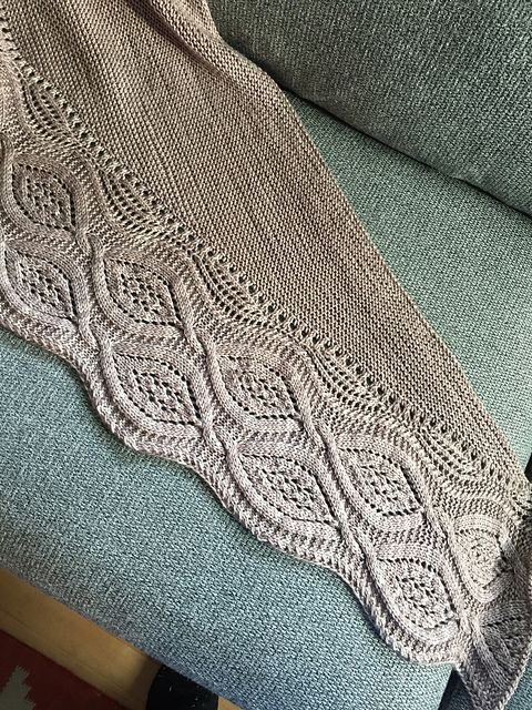 Stories from Snoqualmie Valley - MKAL by Annie Rowden, knitted by Elleinadxc | malabrigo Rios in Sand Bank