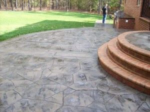 Stamped Concrete Patio Designs | This Is A Stamped Concrete Patio Using An  Arizona Flagstone Pattern