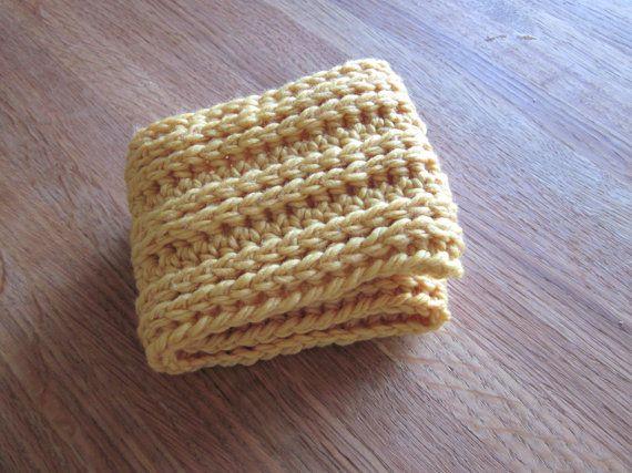 Merino Wool Ear Warmer / Head Band / Yellow by MimicoCrochet