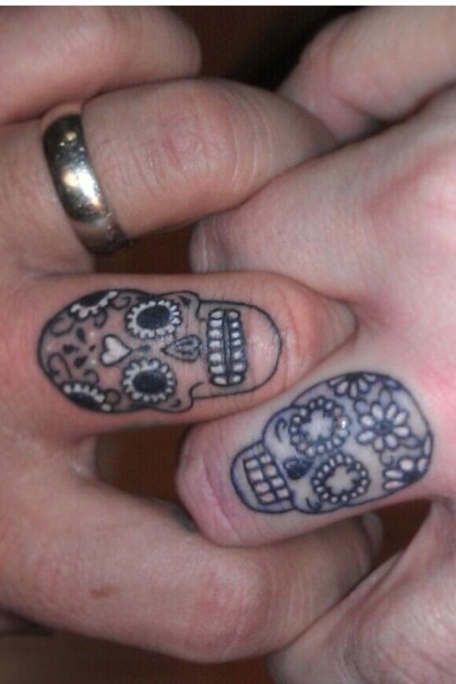 Wedding ring tattoo Skulls ring tattoo #wedding #skulls #tattoos