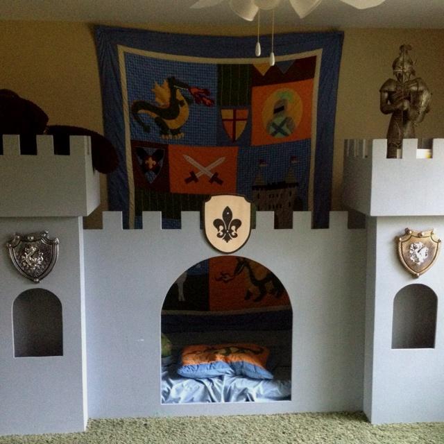 Boy castle bed
