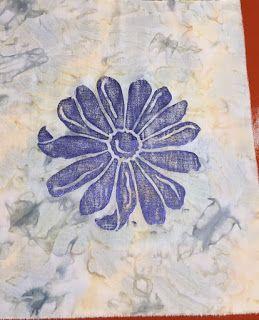Il tessuto stampato Bee: Paintstik Rubbings per texture e immagini