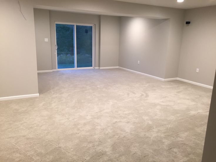 Finished Basement Remodel Project: Walls Painted With Agreeable Gray By  Sherwin Williams Timeless Treasures Carpet