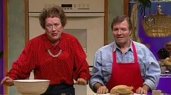 Julia Child & Jacques Pepin Prepare A Stuffed Turkey Roulade  How to debone a turkey!  Best thanksgiving bird I've ever made!