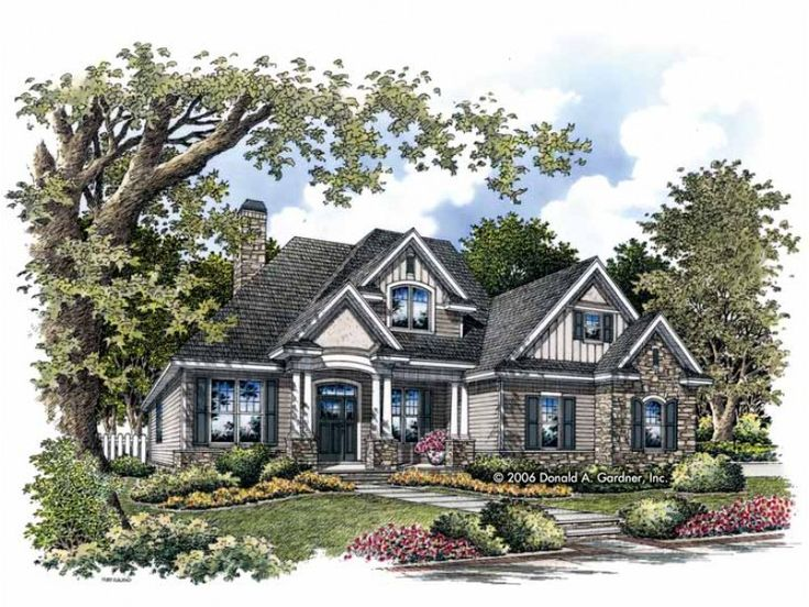 Eplans Craftsman House Plan - Four Bedroom Craftsman - 2217 Square Feet and 4 Bedrooms from Eplans - House Plan Code HWEPL67453