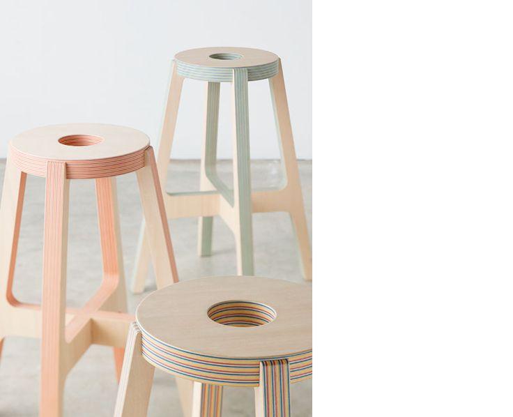 DRILL DESIGN paper wood stool …