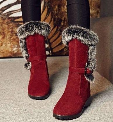 裏起毛 女性 暖かい ブーツ 無地 カジュアル オリジナル 売れ筋 履きやすい 2色