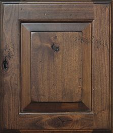 dark stained knotty alder cabinets - Google Search