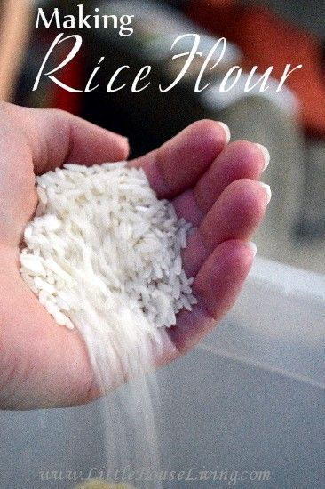 Make your own rice flour and save $$ from buying regular rice flour from the store. So easy!