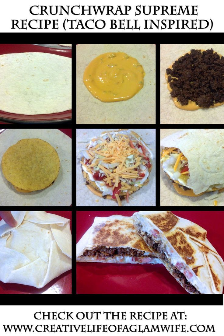HEALTHY and EASY Homemade Crunchwrap Supreme Recipe – Taco Bell Inspired (Healthy and Easy and Fast!!!).