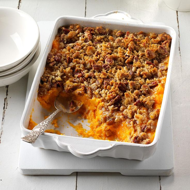 Sweet Potato, Orange & Pineapple Crunch Recipe -I combined my two absolute favorite sweet potato casseroles in the world to create my own version for the holiday table. —Lisa Varner, El Paso, TX