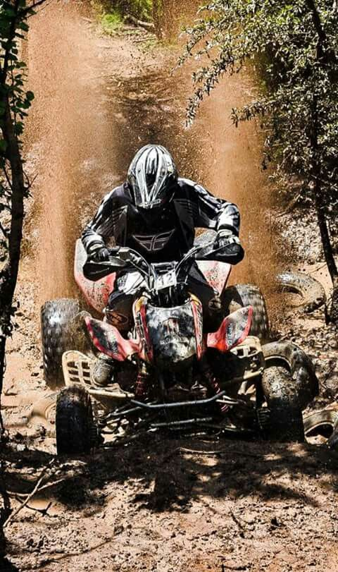 My husband, Muller Rothmann, in action riding his Honda TRX 450.