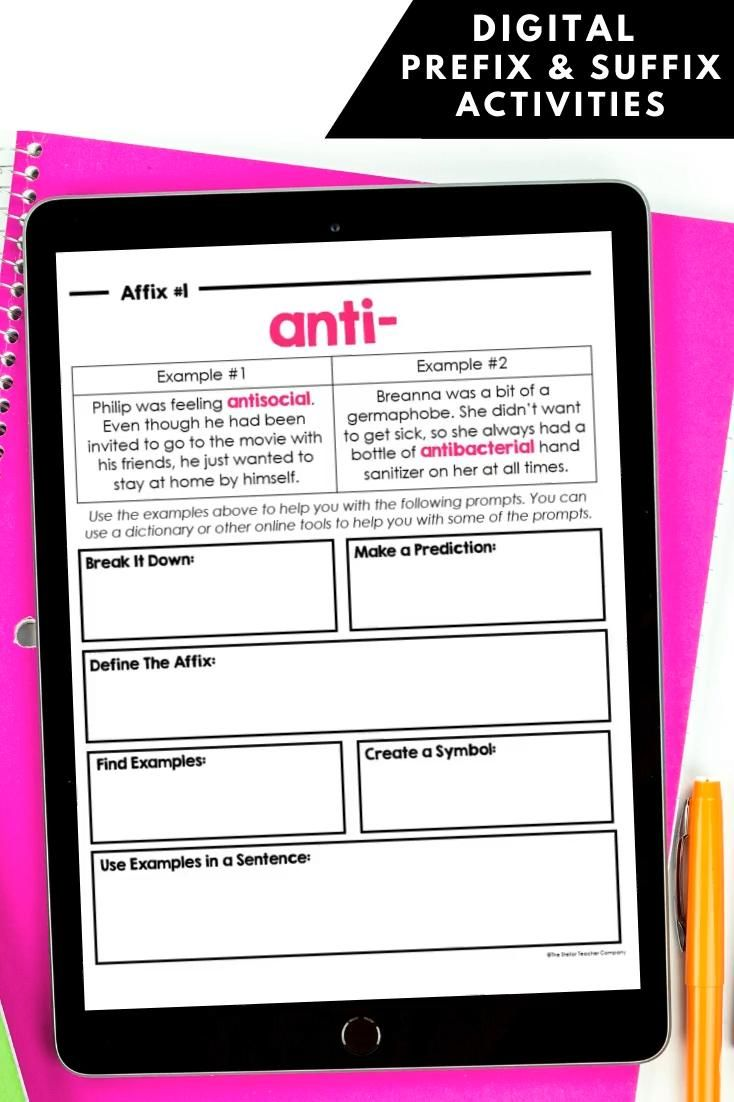 Pin On Affixes