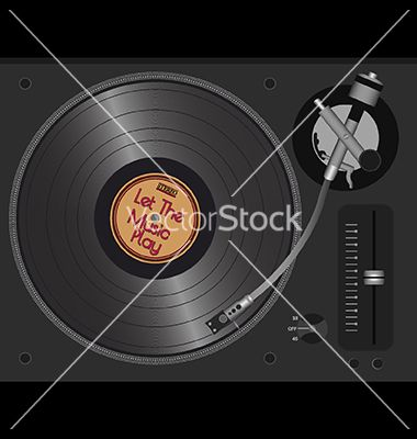 Let the music play vector on VectorStock