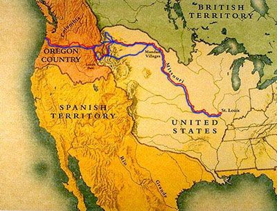 Detailed Lewis and Clark Map | File:Lewis and Clark Expo Map.jpg - Wikipedia, the free encyclopedia