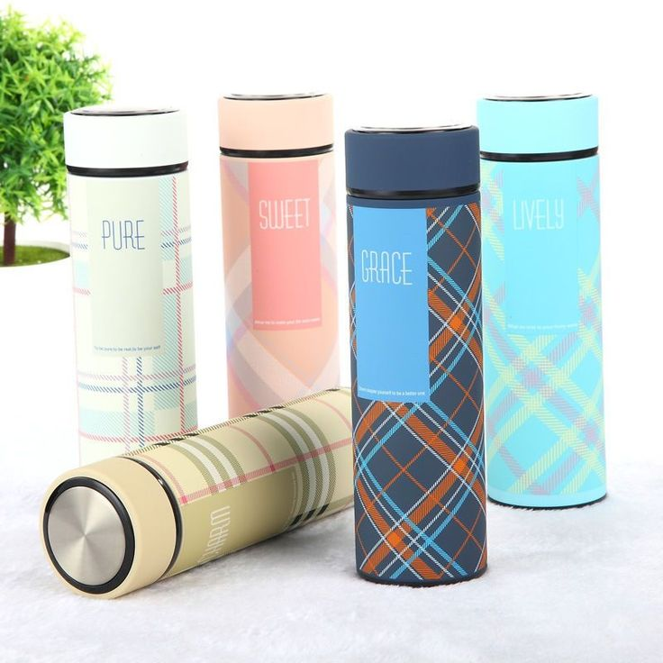 Fashion Stainless Steel Vacuum Flask Thermos Cups Coffee Water Cups Travel Mug