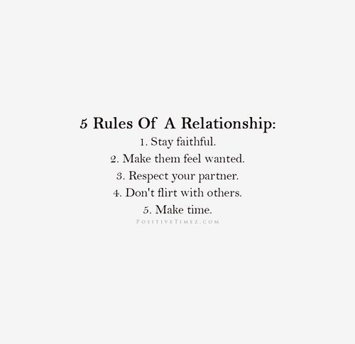 I thought I was the only one that believed in these type of relationship rules.