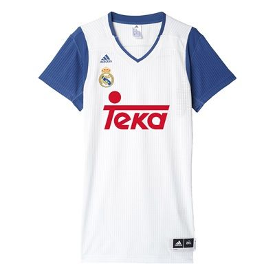 Real Madrid Basketball Jersey - White: Real Madrid Basketball Jersey - White #RealMadridShop #RealMadridStore