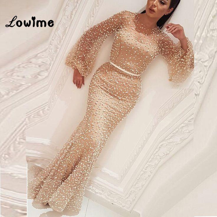 Kaufen Robe De Soiree Arabisch Champagner Formale Abendkleid Nahen Osten Kaftan 2 … – Special Occasion Dresses