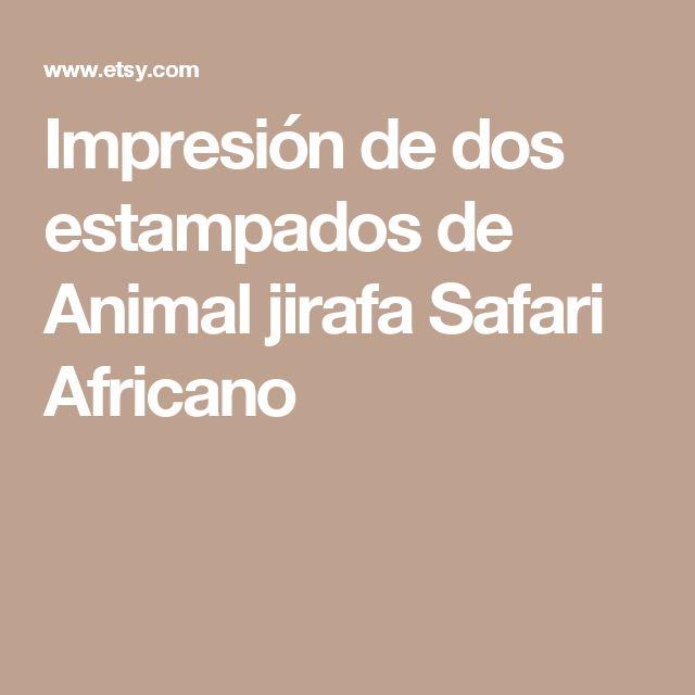 Impresión de dos estampados de Animal jirafa Safari Africano