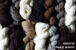 Wool from the Hebridean Wool Shed in Uist