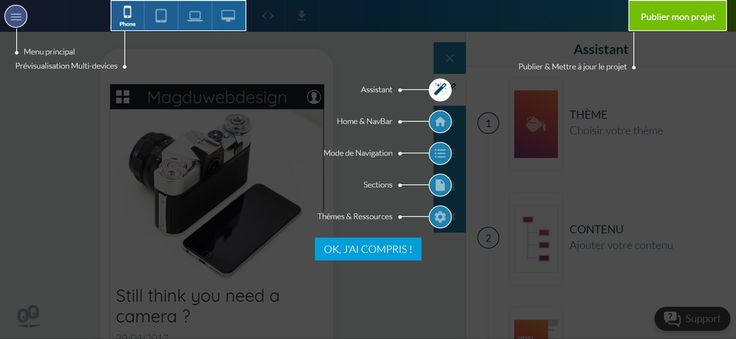 GoodBarber - Créer une application mobile en ligne