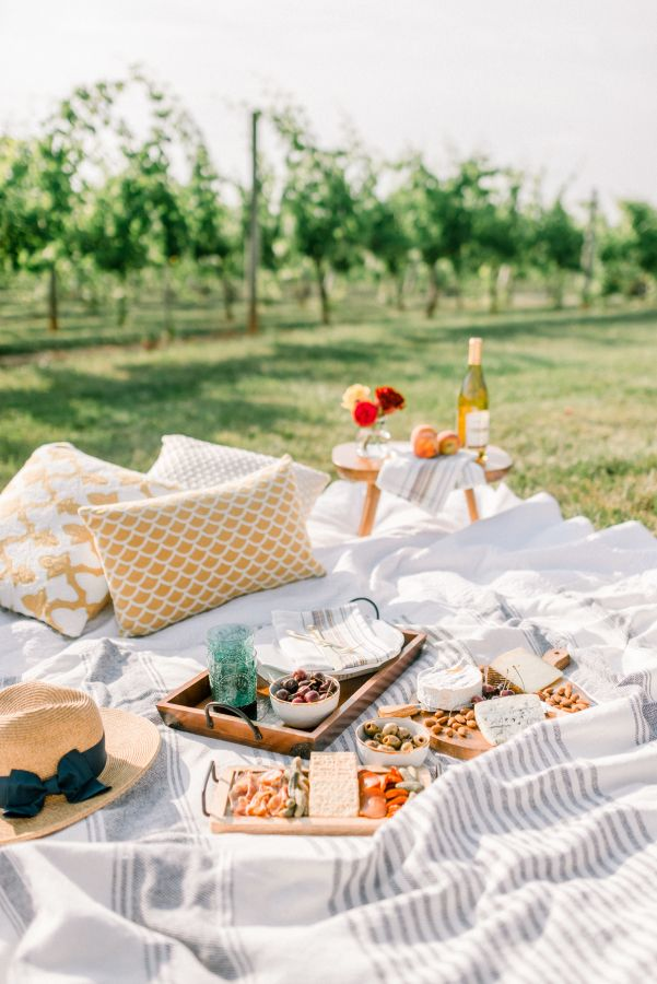 Gorgeous picnic in the vineyard: http://www.stylemepretty.com/2016/09/24/the-sweetest-picnic-proposal/ Photography: Sarah Pascutti - http://www.sarahpascutti.com/