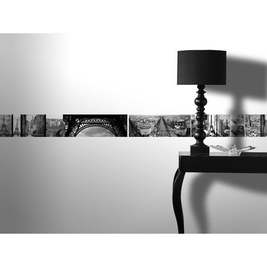 Frise vinyle adhésive Paris romantique, longueur 5 m