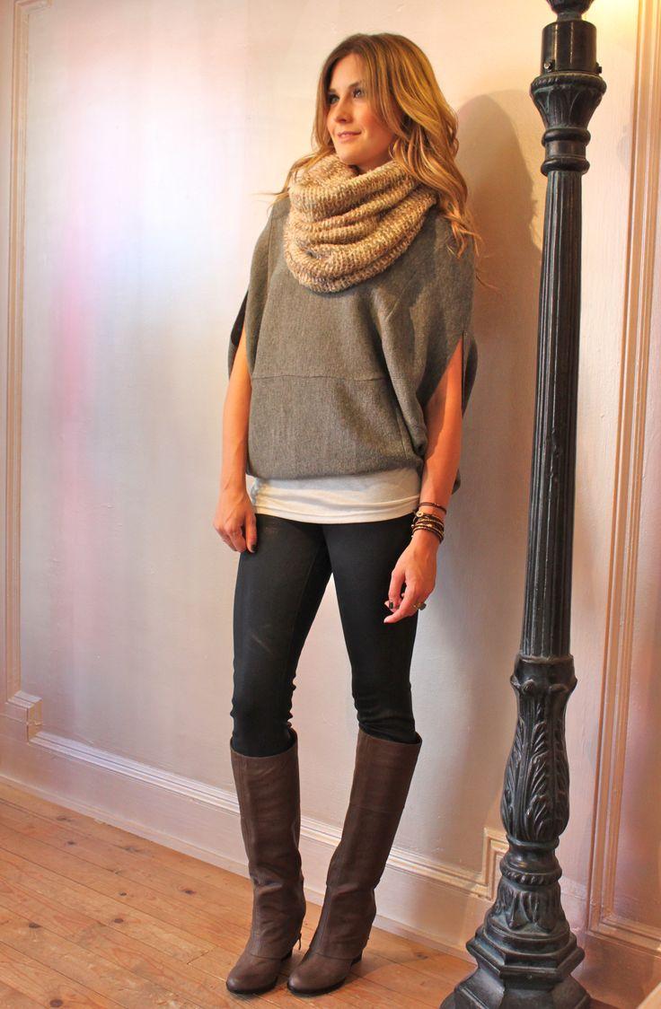 Fall Fashion - Scarf/Sweater/Boots