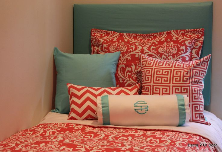 Join the Coral Dorm Room Bedding Craze!