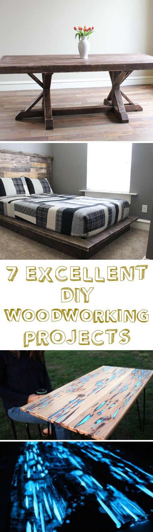 7 Excellent DIY Woodworking Projects | DIY | Pinterest