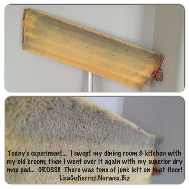 Used My Norwex Superior Dry Mop Pad After Sweeping With A