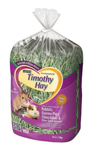Many small pets like rabbits, guinea pigs and chinchillas need a constant supply of hay to maintain sound digestive health. Carefresh Timothy Hay works as an all-purpose rabbit, guinea pig, and chinch