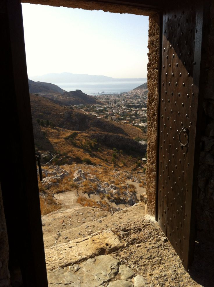 Kalymnos. View from Chora castle.