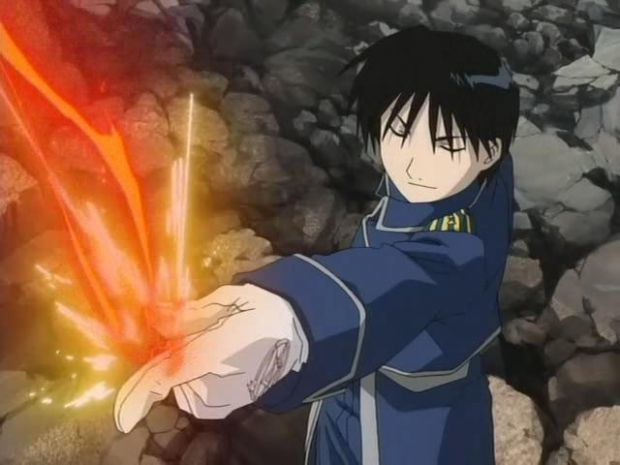 Roy Mustang (ロイ・マスタング Roi Masutangu), also known as the Flame Alchemist (炎の錬金術師 Honō no...