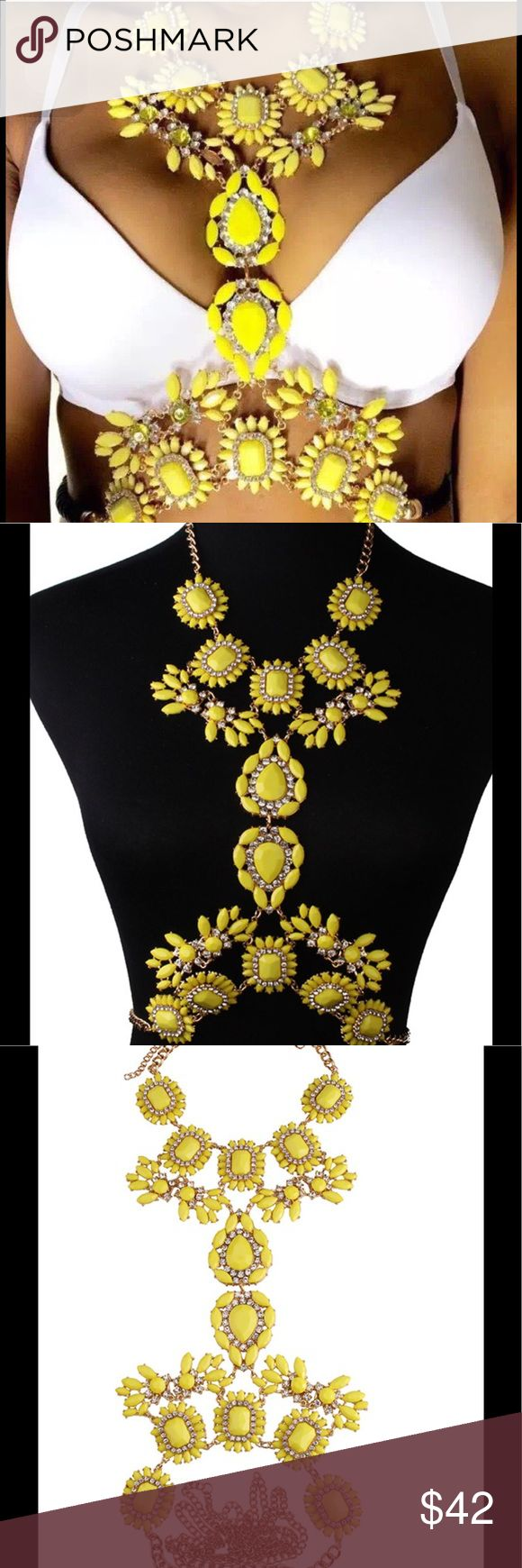 Canary Yellow Statement Piece Perfect for vacation. Statement body jewelry. Brand used for exposure. ***Please allow 14days for delivery.*** Missguided Jewelry