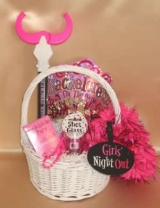 bachelorette gift basket ...this may come in handy the next couple of months =]