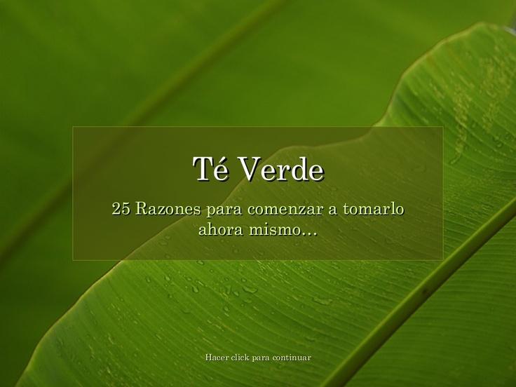25-razones-para-tomar-t-verde by TIENS Colombia Grupo qiGONG via Slideshare