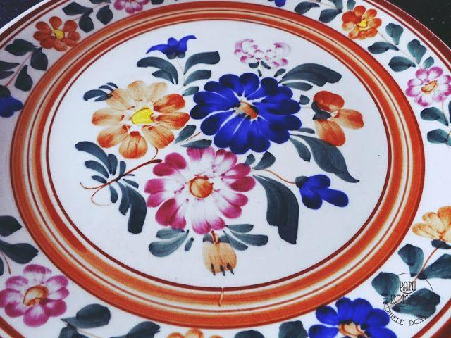 kolorowy talerz