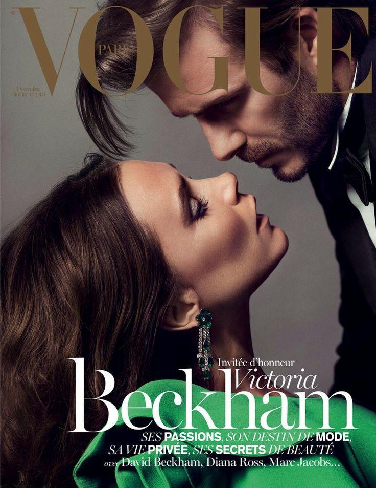Victoria and David Beckham for Vogue France December 2013