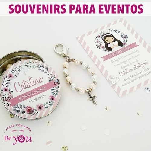 566ed736f Llaveros Denarios Porfis Souvenir Comunión + Bolsita Organza - $ 35,00 en  Mercado Libre